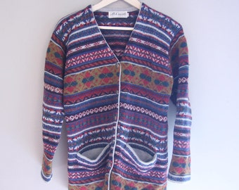 Coogie-esque Italian Designer Mi'racolo Knitted Tribal Cardigan