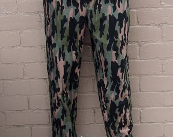 pink and green camo pants