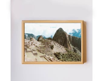 Travel photography machu picchu cusco peru mountains landscape photo home decor photo art print downloadable printable wall art