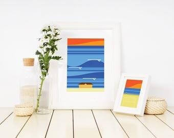 Manly Beach Sunset Surf Print