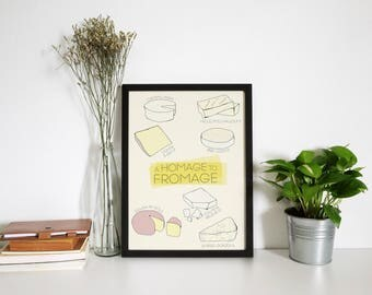 A Homage to Fromage Cheese Pun Poster
