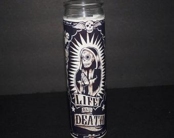 SANTA MUERTE Prayer Altar Church Candle Novena Santisima Holy Death Botanica Saint Holy Death