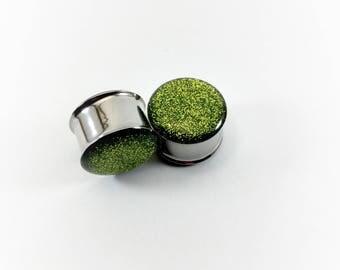 Light Green Metallic Glitter Plugs