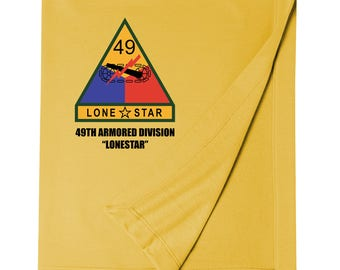 49th Armored Division Embroidered Blanket-4213