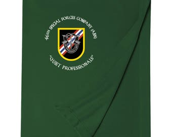 46th Special Forces Group Embroidered Blanket-3787