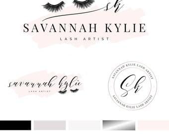 Branding Kit Template, Lash Logo Design, Lash Logo, Makeup Branding Kit, Lash Artist Logo, Premade Logo, INSTANT DOWNLOAD, DIY Logo
