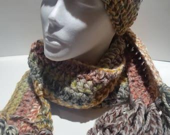 scarf with ear warming head wrap