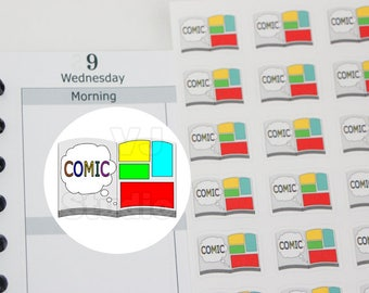 planner stickers,50 comic book planner stickers,read comic book,comic art meetup ------M172P