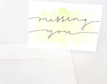 Customizable Handmade Watercolor Greeting Cards | Custom Message