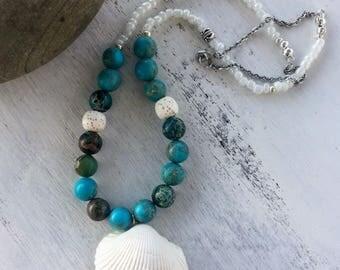 Lava Stone Necklace- Essentials Oils Diffusing