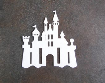 Cut out embellishment Castle strong Princess Queen King Knight average age cardmaking scrapbooking