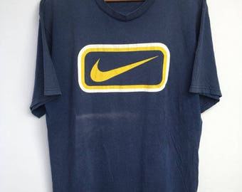 Vintage 90s Mens Nike Air Big Swoosh Logo Tee Tops T shirt