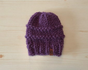chunky fig knit hat