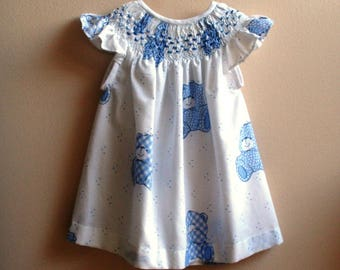Jesusito dress embroidered in Russian and Rococo point