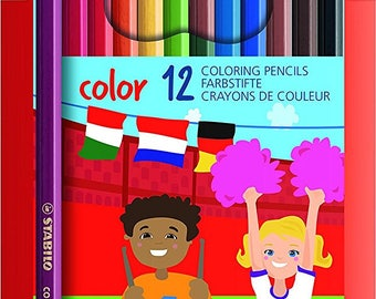 Personalised 12 Stabilo Colouring Pencils