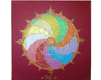 Magic cyrcle Ohm, 30 x 30 cm