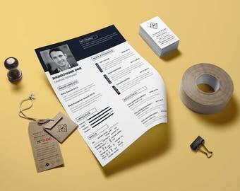 Resume template eps, psd,instant download, digital file, resume file, cv resume