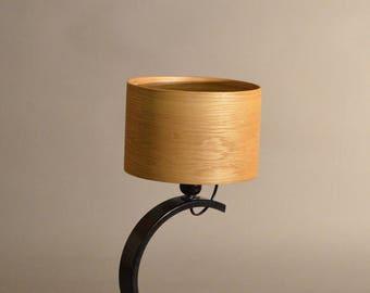 Table lamp, Wood lighting, Veneer lampshade, Interior lighting, Bois et Bauxite, Gaia YT 020
