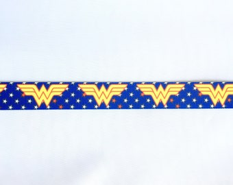 "Wonder woman 7/8"" 22 mm Grosgrain Ribbon for Hair Bows Scrapbooking Crafts Party Cake Birthday Decoration"