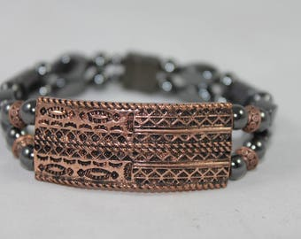 Aztec Copper Bar High Quality Magnetic Bracelet