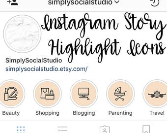 Set of 6 Instagram Story Highlight Cover Icon - Template for Instagram Stories - coral/blush Lifestyle/Mommy blogger Covers for Instagram