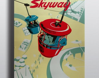 See Disneyland from the Air! - Advertising Vintage Poster Print