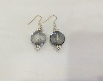Beautiful grey Swarovski sparking earrings