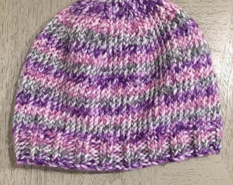 Striped Knit Winter Hat