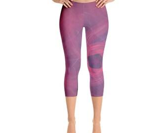 Women's  Fusion Capri-Leggings,Beautiful Pattern leggings, full printed, Printful, USA,Made for you, Modern,Trendy Design store,