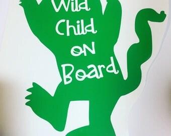 Wild child on board vinyl decal sticker