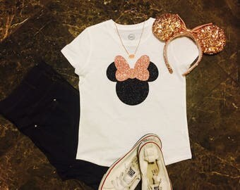 Disney Shirt/ Rose Gold Child Size Shirt