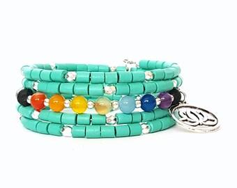 Prana charged, Chakra bracelet,  Gemstones bracelet, Healing bracelet, Ayurvedic bracelet, Holistic bracelet, Yoga bracelet, Pranic jewelry