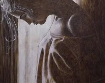 Original Charcoal Woman