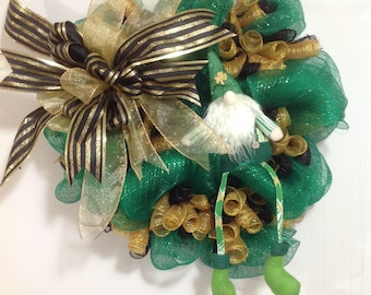 Whimsical St. Patrick's Day Gnome Wreath