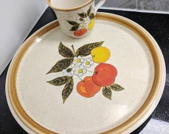 Vintage Mikasa Dinner Plate & Tea Cup