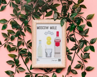 Drinks print no. 9 - Moscow Mule