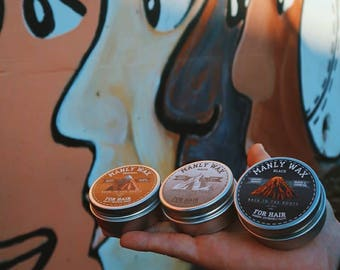 MANLY CLUB Hair Wax Organic Premium Hand Made All Natural Styling Men's Care