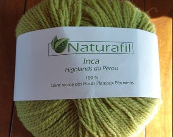 17 skeins of Pure wool 100% Green Naturafil Inca