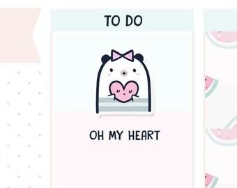 My Heart Boo Bear - Planner Stickers    B03