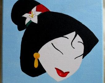 Peinture minimaliste de Mulan
