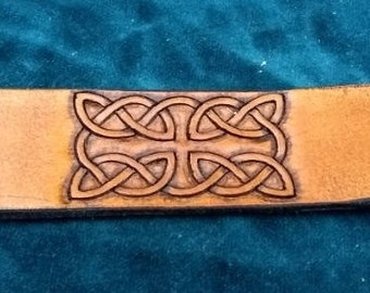 Celtic Leather Bracelet, Extra Small