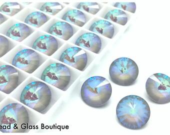 Swarovski Crystal Rivoli #1122, 14mm, 4 pieces, Ultra Arctic AB