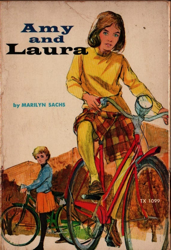 Amy and Laura - Marilyn Sachs - Tracy Sugarman - 1968 - Vintage Teen Book