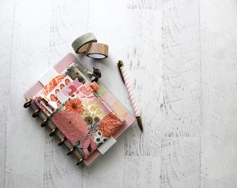 Mini happy planner cover - pencil pouch - journal bag - planner clip holder - pen holder - floral planner