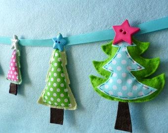 Felt & Fabric Tree Garland - Large Kit - Felt sewing kit