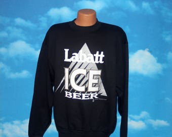 Labatt Ice Beer Black Sweatshirt XL Vintage 1993