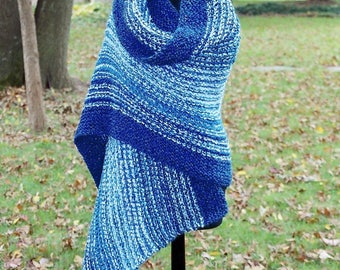 Custom Peace Like a River Shawl, Lap Blanket, Throw, Chemo Comfort Wrap, Prayer, Meditation, Full Rectangle, Blue White, FREE Shipping