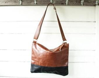 Large Drew Leather Crossbody Bag
