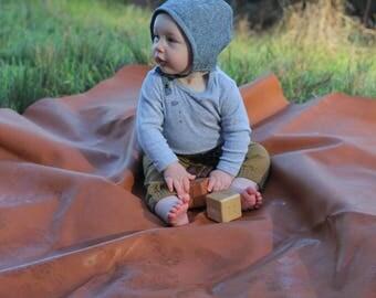 Denim Baby Sun Bonnet, Neutral Baby Bonnet, Spring Baby Boy Style, Linen Baby Bonnet, Baby Boy Hat, Blue Corduroy Hats