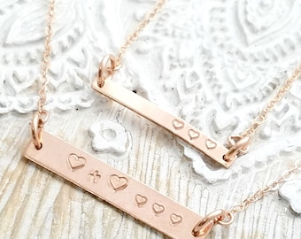 mothers necklace- bar necklace-rose gold bar necklace-minimalist necklace-rose gold jewelry-mommy necklace-custom necklace-gift for mom